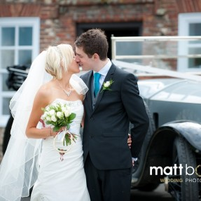 bride and groom at northease manor wedding